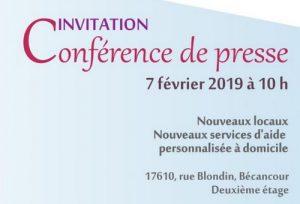 Invitation à la conférence de presse 2019
